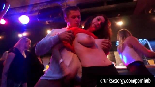 Naughty Pornstars Fucking in the Club