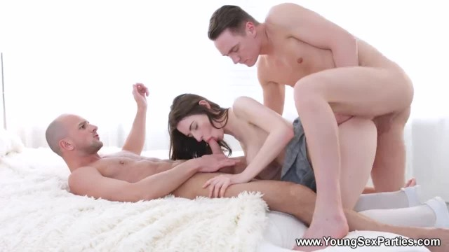 Young Sex Parties - Clary - DP Threeway with Hot Teeny