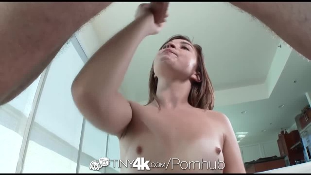 Tiny4K - Petite Kaylee Haze keeps Monster Cock Hard in her Mouth