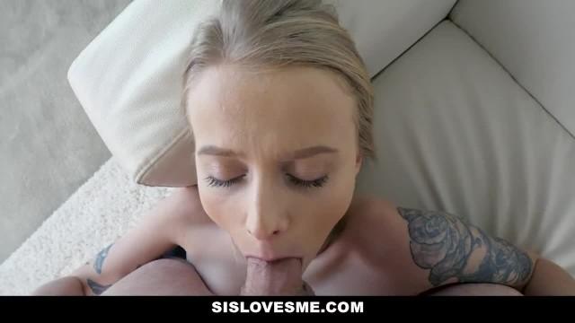 SisLovesMe - Big Dick Stepbrother gets Teased by Kinky Blonde