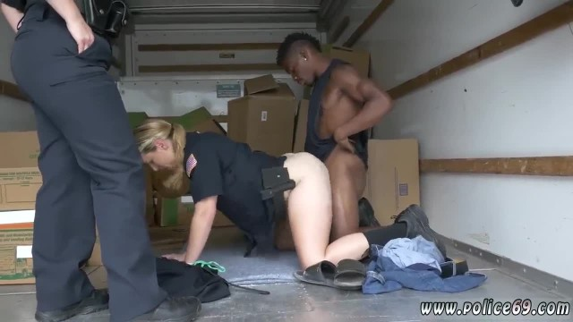 British Police Woman and Traffic Police Black Suspect taken on a Tough