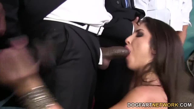 Giselle Leon gets Gangbanged by Black Cocks