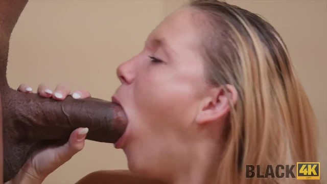 BLACK4K. Young Excited Cutie is Ready to Deal with Giant Black Penis