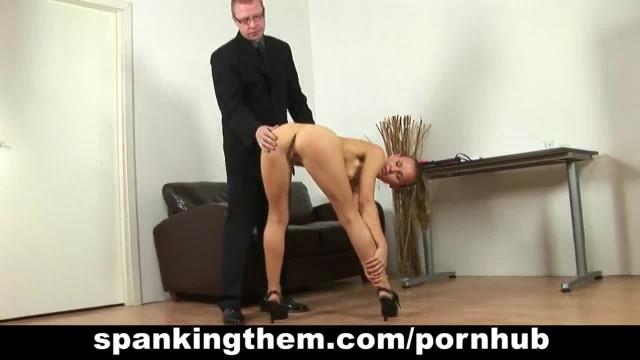 Shy College Babe Spanked by Principal