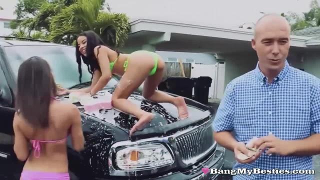 Lucky Dude Fucks three Stunning Teenage best Friends in Exchange for Cash