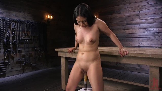 Hot new Latina gets Power Fucked by the Machines