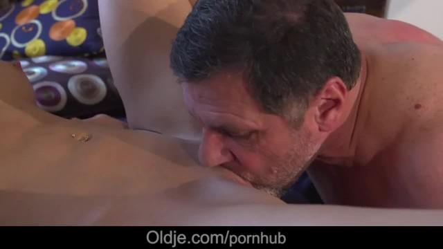 Old Business Man Fucks too Horny Hot Young Girlfriend Caught Masturbating