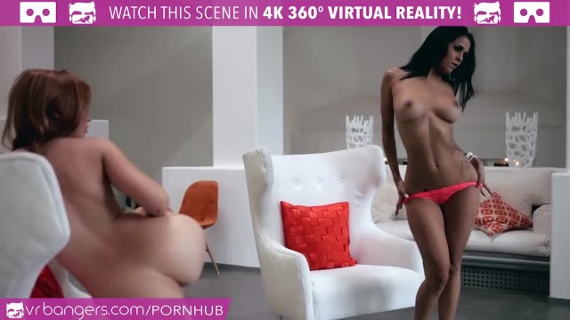 VR Bangers - 3 Crazy Hot Girls Striptease and Masturbate around you