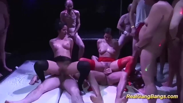 Hot Gangbang Fuck Party with Cute Teens