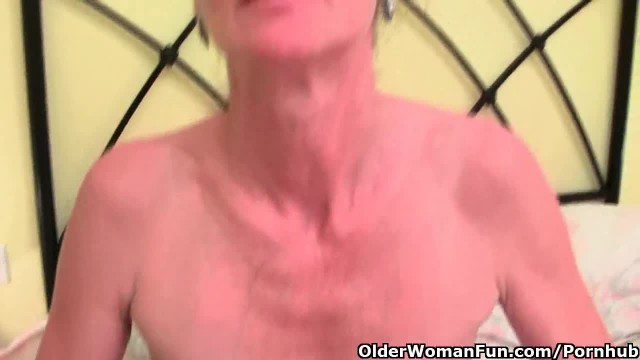 Hairy Grandma gets her Saggy Tits and Furry Hole Fondled by Photographer