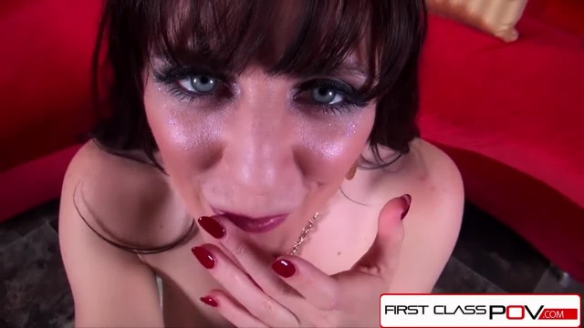 FirstClassPOV- Euro Slut Samantha Bentley Sucking a Monster Cock, Big Boobs