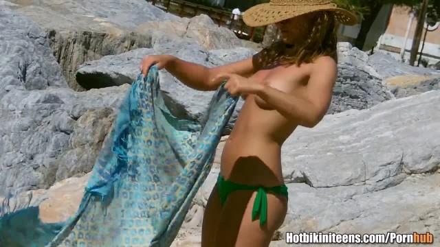 Sexy Thong Topless Girls Beach Voyeur HiddenCamera HD Video