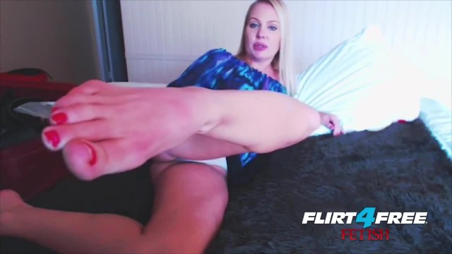 Blonde Mistress Foot Fetish Tease and Ass Worship