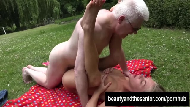 Busty Teen Lolly Fuck old Nick Outdoors