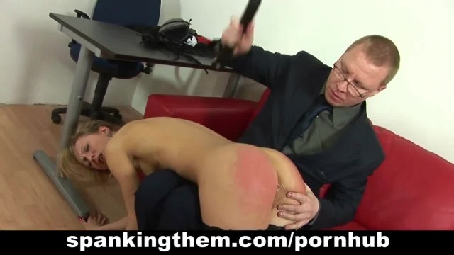 Naughty Sub Spanked and Anally Toyed in the Office