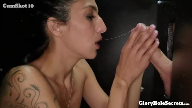 Tiny Destiny Lovee makes Strangers Cocks Happy in the Gloryhole