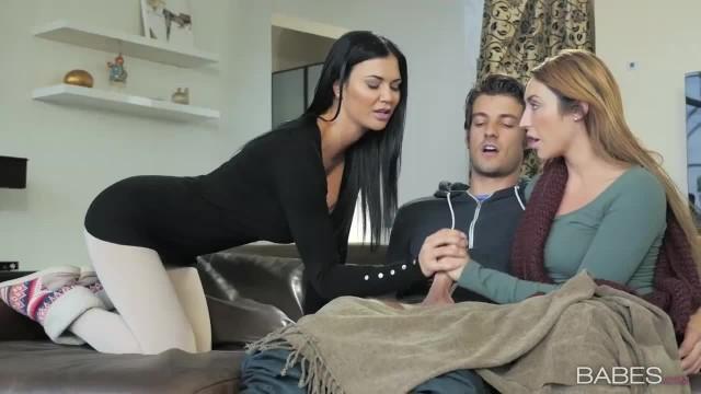 Babes Christiana Cinn and Jasmine Jae Share Lucky Cock