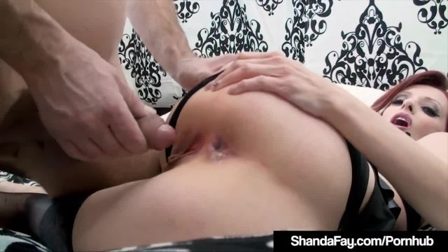 Horny HouseWife Shanda Fay Stuffs Muff & gets Anal Fucked!