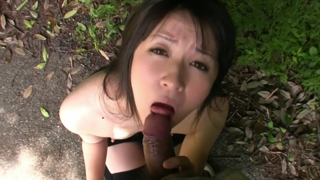 Sexy Asian Teen Sucking Cock in the Forest