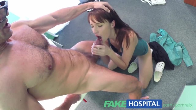 FakeHospital Horny Sexy Slim Patient wants Doctors Cock