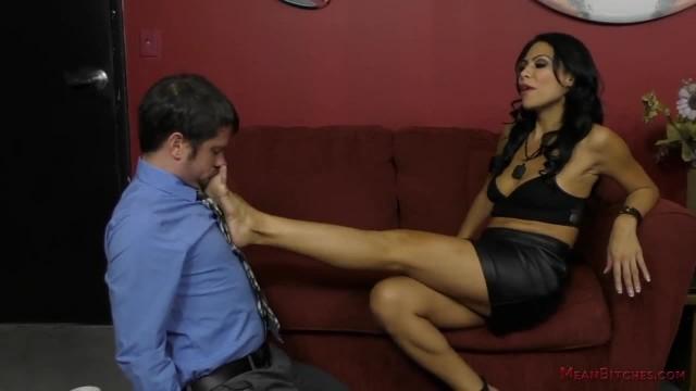 Femdom Office Worker makes her Co-Worker Kiss her Ass - Cassandra Cruz