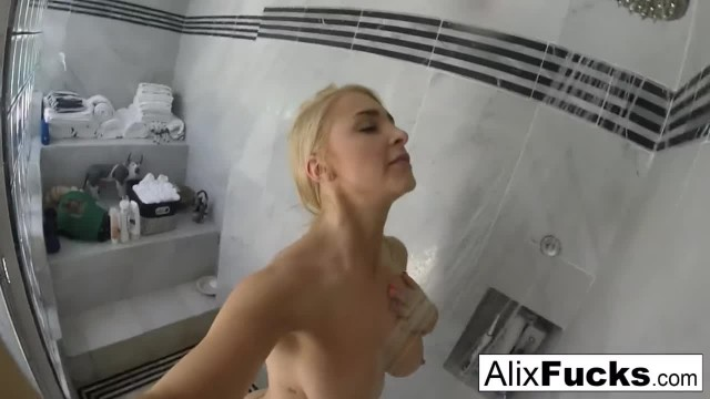 Alix Lynx Takes a Quick Post-sex Shower