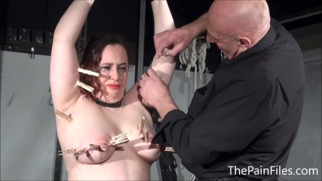 BBW BDSM Slave Nimues Tit Torments and Fierce Whipping of Crying Amateur