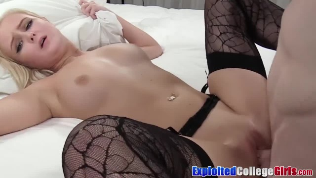 Petite Natalia Dresses up for College Doggystyle and Facial