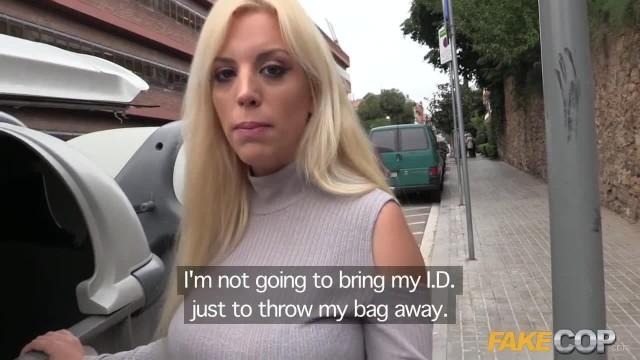 Fake Cop Policeman Fucks Big Booty Blonde Latina