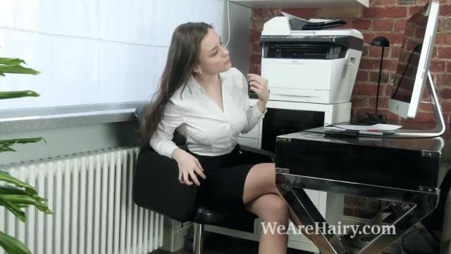 Terry Woods Masturbates at her Desk after Work