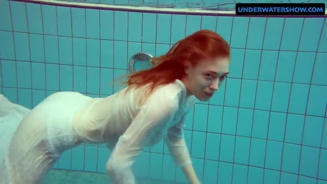 Redhead Diana Hot and Horny in a White Dress