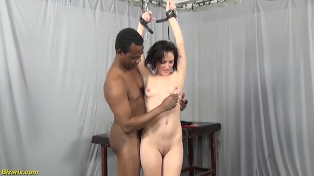 Skinny Teen's first Interracial BDSM Lesson
