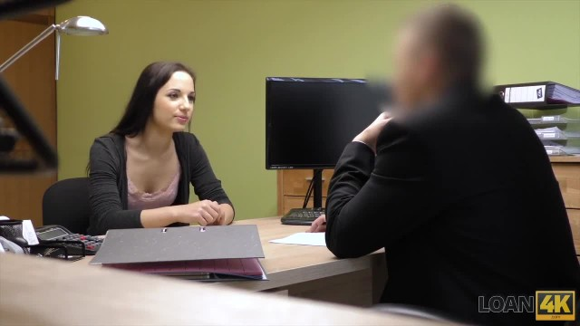LOAN4K Young Chick needs Money Badly so she  Satisfies Loan Agent