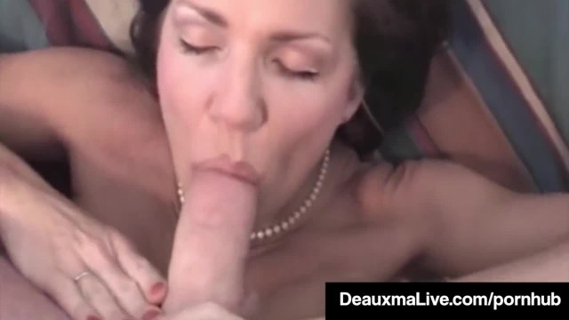 Horny Cougar Deauxma POV Mouth Fucks A Guy and gets A Cum Bomb
