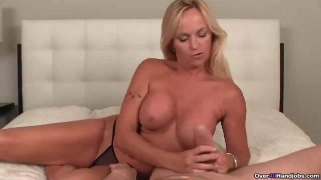Big Titted Step-mom Gives Hot POV Handjob