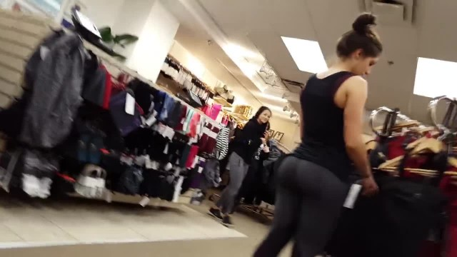 2 Hot Lululemon Workers in Tight Leggings Candid