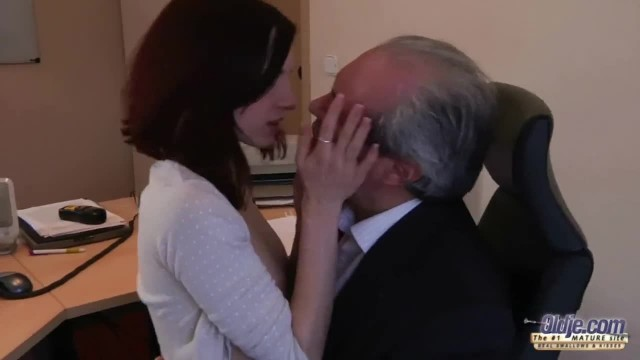 I am a Young Secretary Seducing my Boss at the Office and asking for Sex