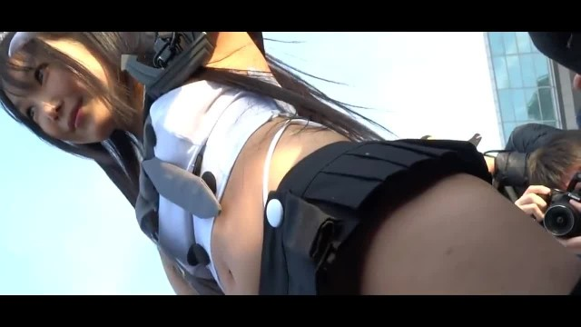 Sexy Cosplay Asian Babe Teasing with her Round Ass