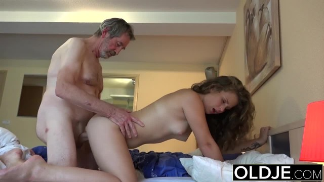 Old Young Beautiful Teen Maid Fucked by Ugly old Grandpa she Likes Sex