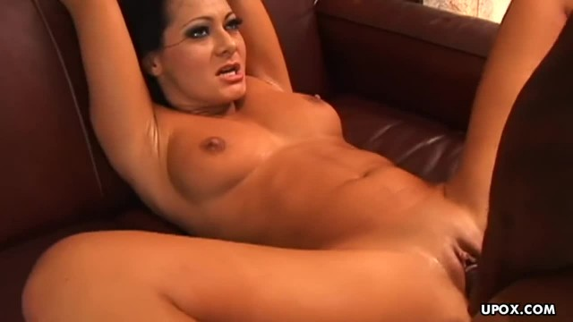 Big Ass Brunette Babe Takes on a Giant Black Cock
