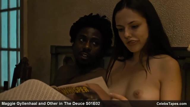 Jamie Neumann and Maggie Gyllenhaal Cumshot Scene from the Deuce