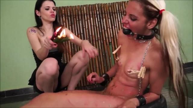 Brazilian Teen BDSM of Lesbian Slave Girl Gia in Blindfolded Bondage