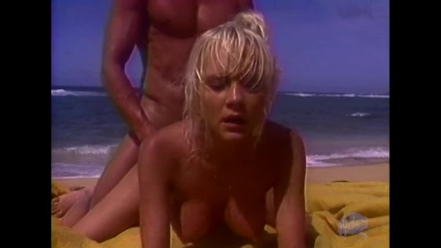 Blonde Babe Fucks Peter North at the Beach