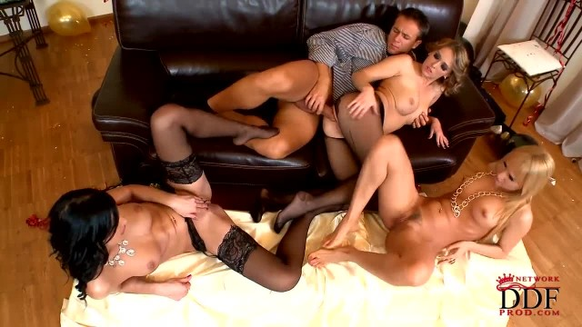 Hardcore Foot and Anal Action with three Girls