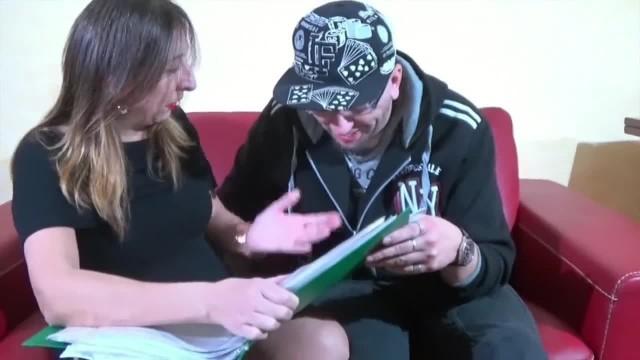 Mature Teacher Blows Student