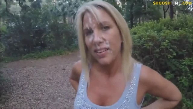 PUBLIC CUM WALK AFTER OUTSIDE FUCK
