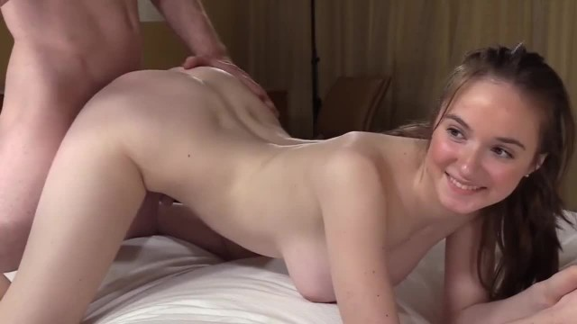 Curvy 18yo Teen gets Fucked in the Ass in her first Casting Video