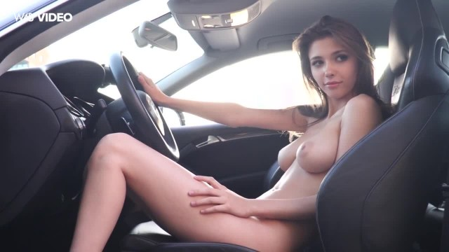 Car Testing with Gorgeous Mila Azul