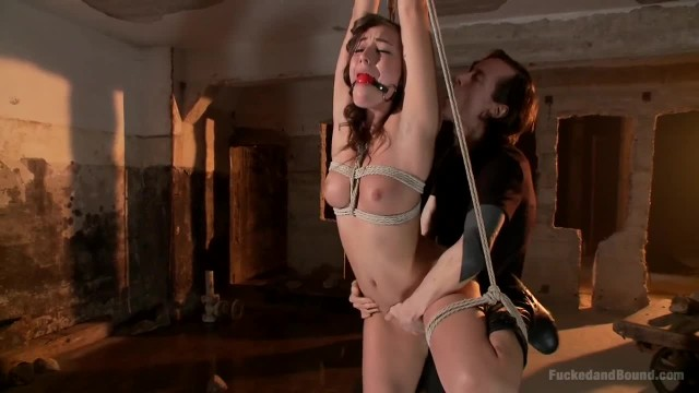 Brunette Cutie Learning to be a Good Submissive