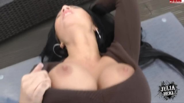 POV Top Roof Fuck with Busty Julia Hertz